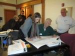 Participants identify potential constraints on a site plan at a 2012 workshop.
